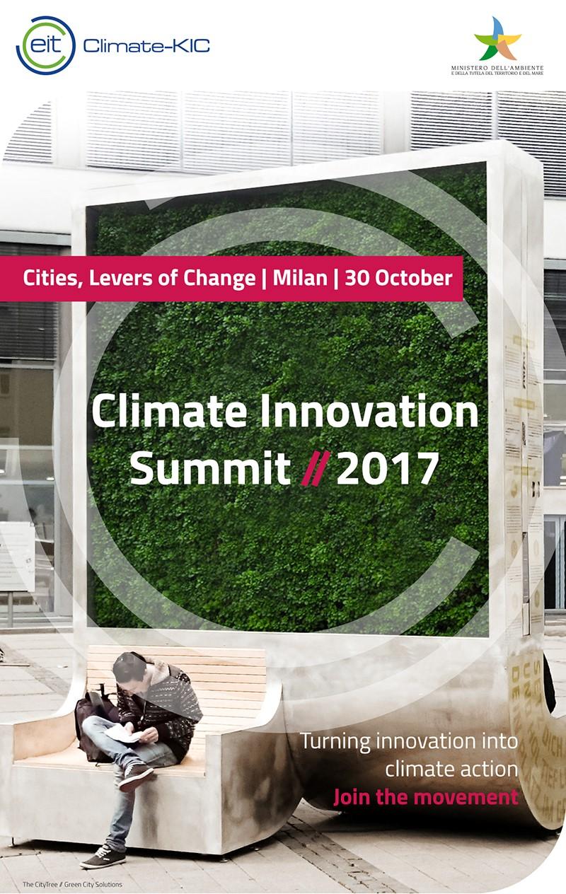 Climate Innovation Summit | 30.10.2017 @Milan, Italy